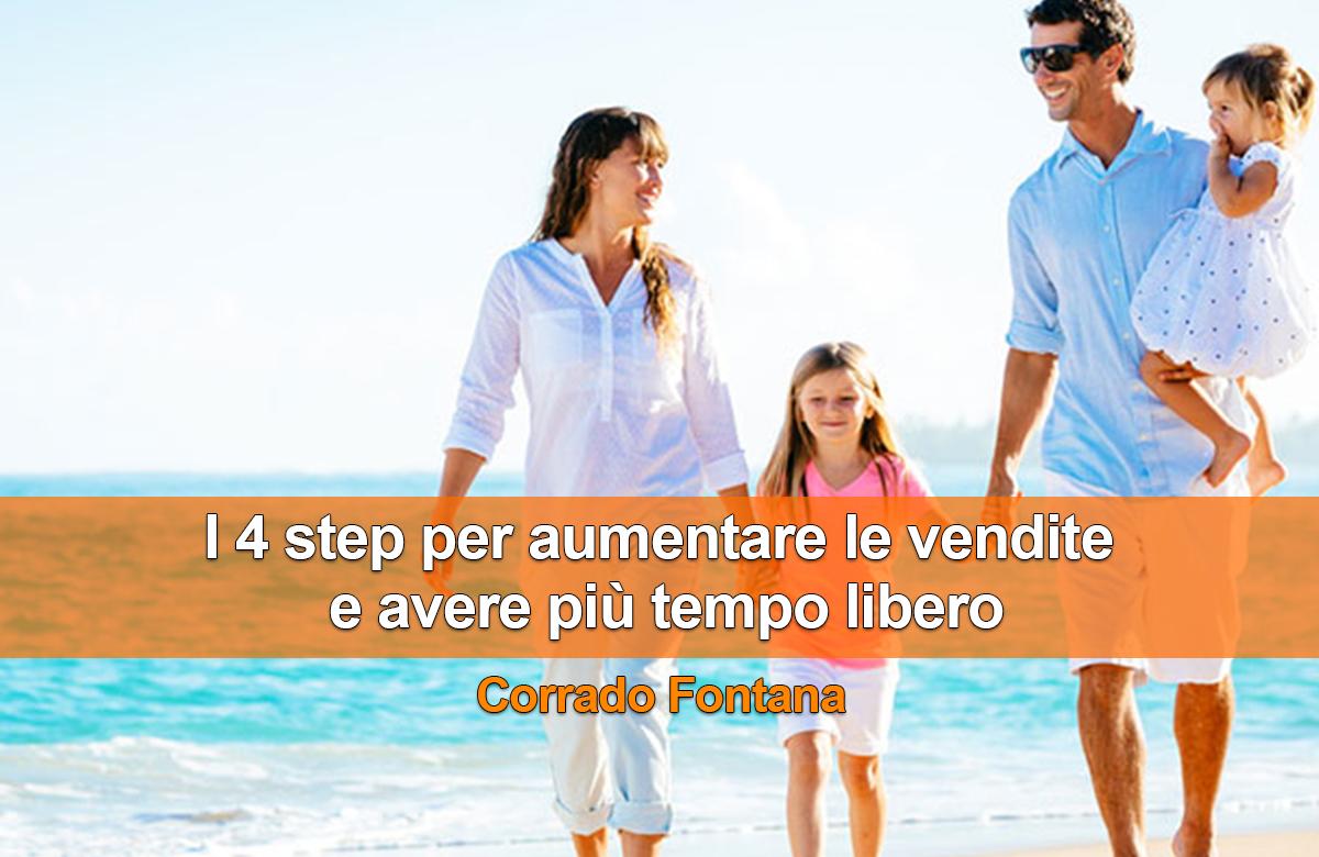 I 4 step per aumentare le vendite e avere più tempo libero - Corrado Fontana