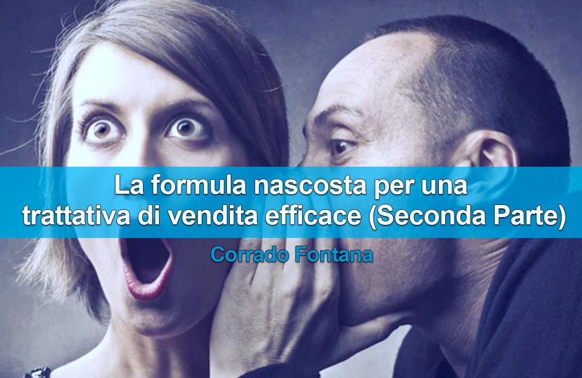 Tecniche di vendita in Italia - La formula nascosta per una trattativa di vendita efficace (Seconda Parte)