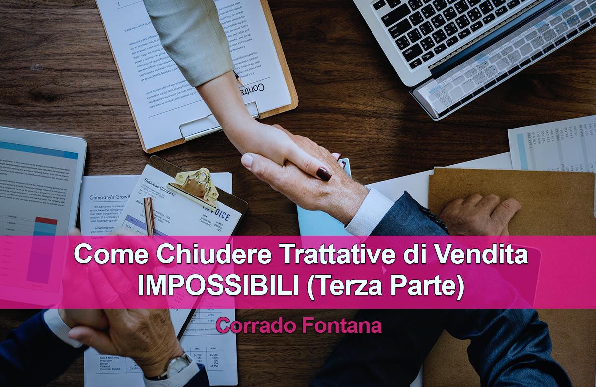 Tecniche di vendita in Italia - Come chiudere Trattative di vendita impossibili (Terza Parte) - wp